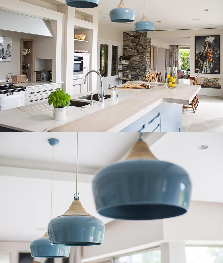 North Down Coastal Home kitchen lighting