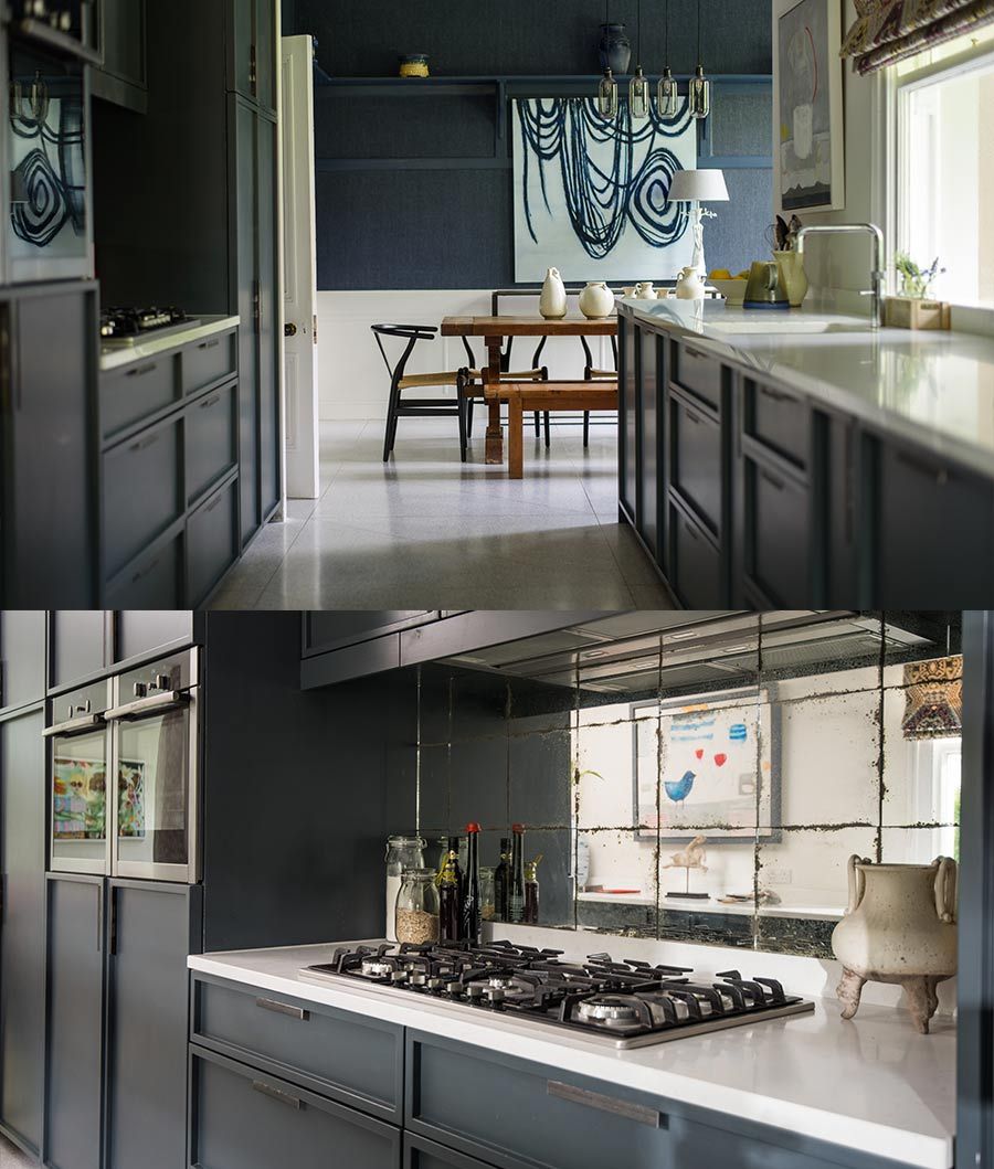 Kitchen stove and custom fitted units