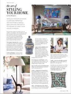 Sara Thompson offering designer advice on styling