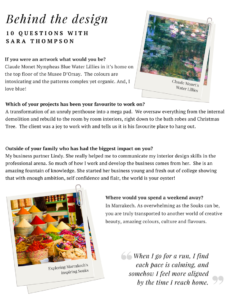 Thompson Clarke Interiors Behind The Design 10 Questions with Sara Thompson