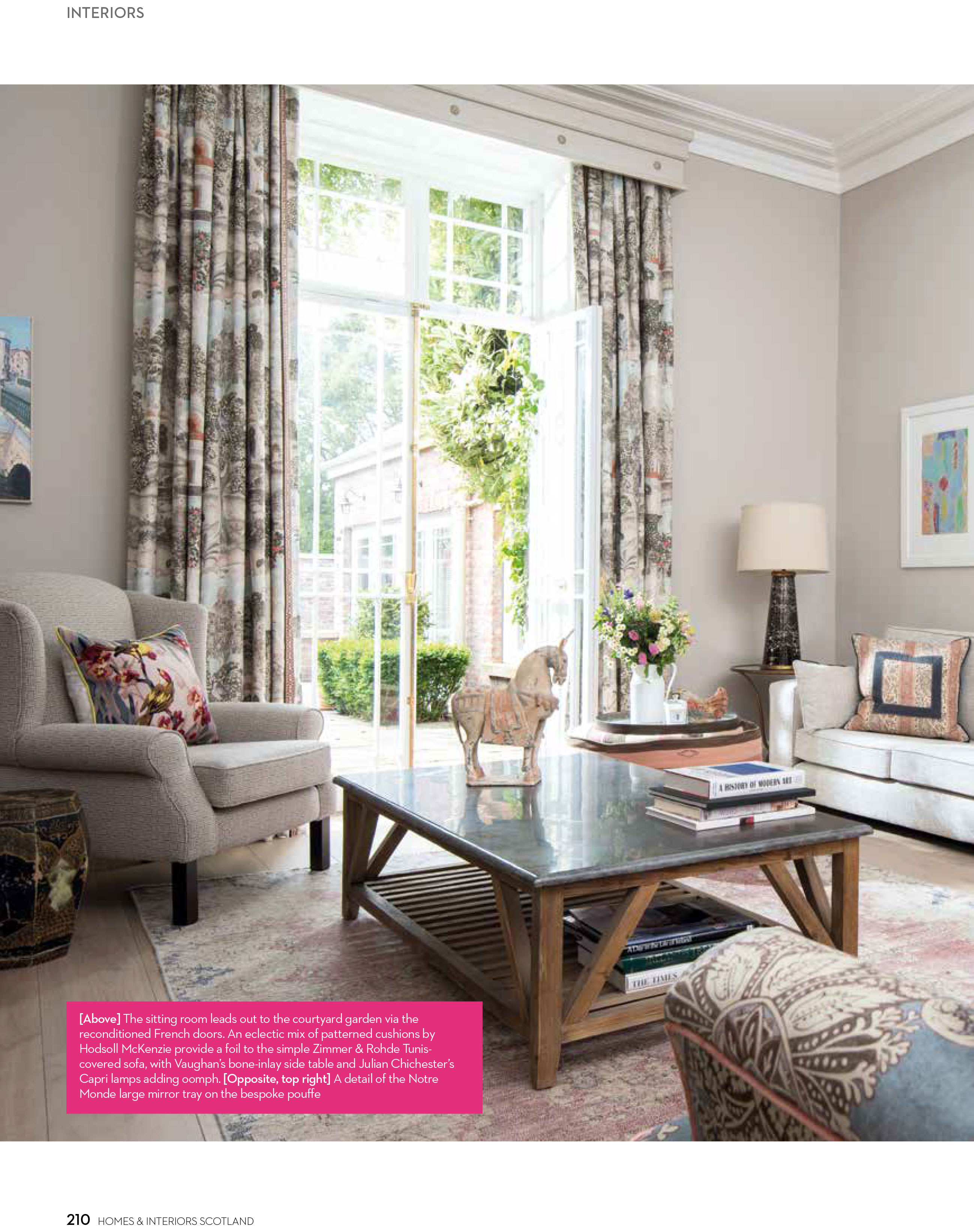 homes and interiors scotland july august 2017 thompson clarke interiors. Black Bedroom Furniture Sets. Home Design Ideas