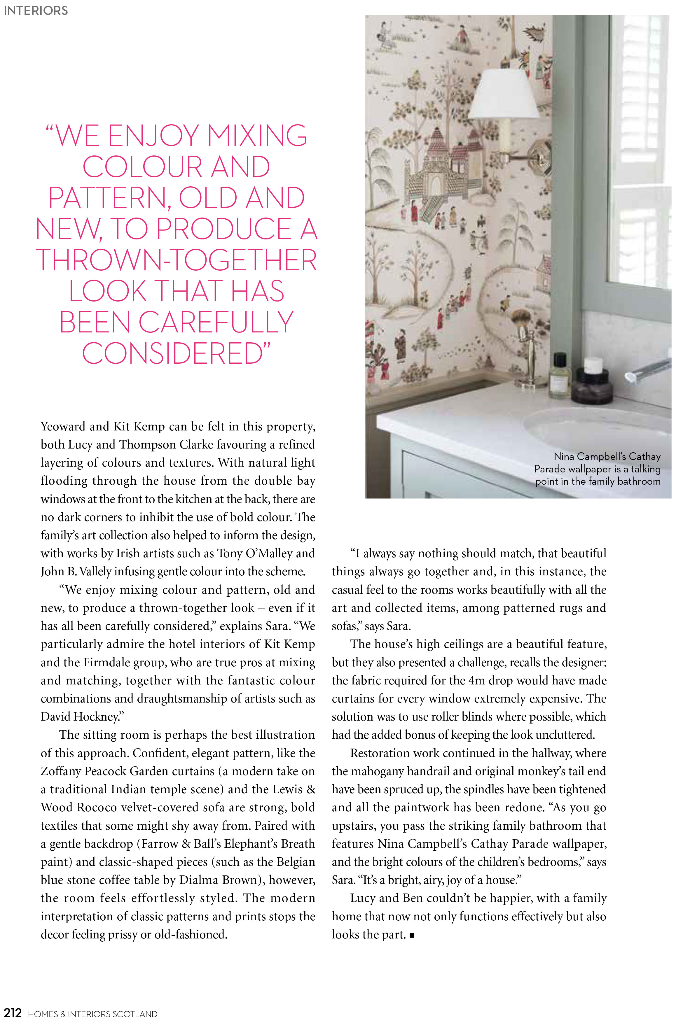 Delighted To See Our Family Manor House Project Featuring In July Augustu0027s  Issue Of Homes U0026 Interiors Scotland. From Fabrics To Full Renovation Plans,  ...