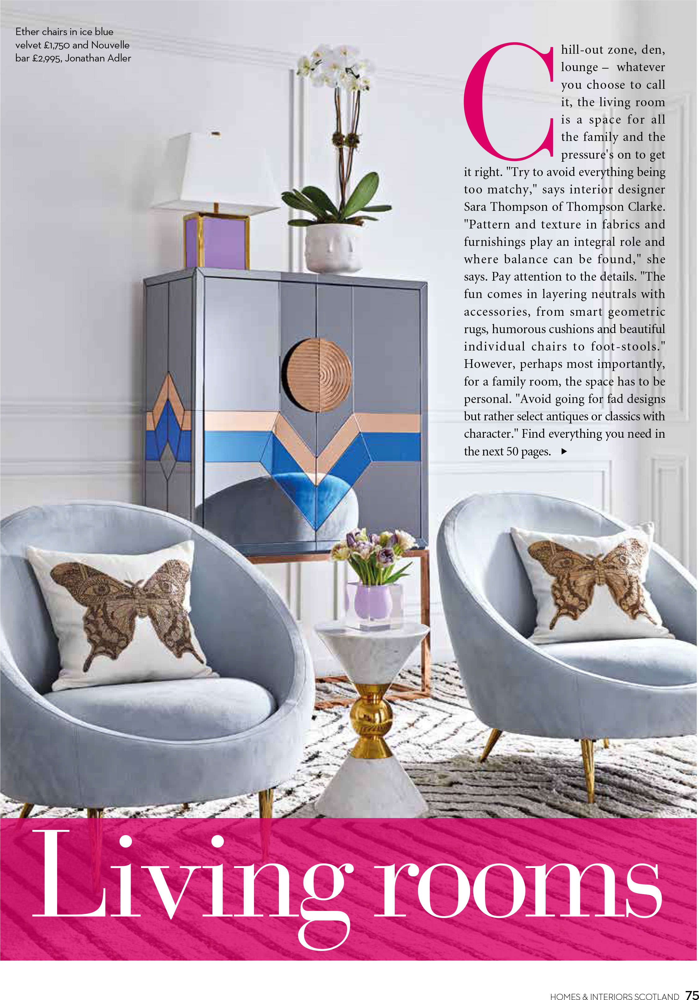 scotland s homes and interiors september october 2017 thompson