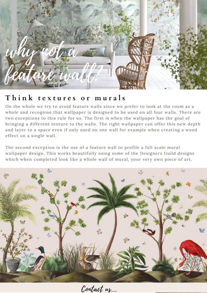 Feature wall or mural